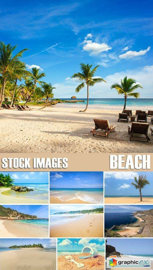 Stock Photos - Summer Beach, Coast, 25xJPG