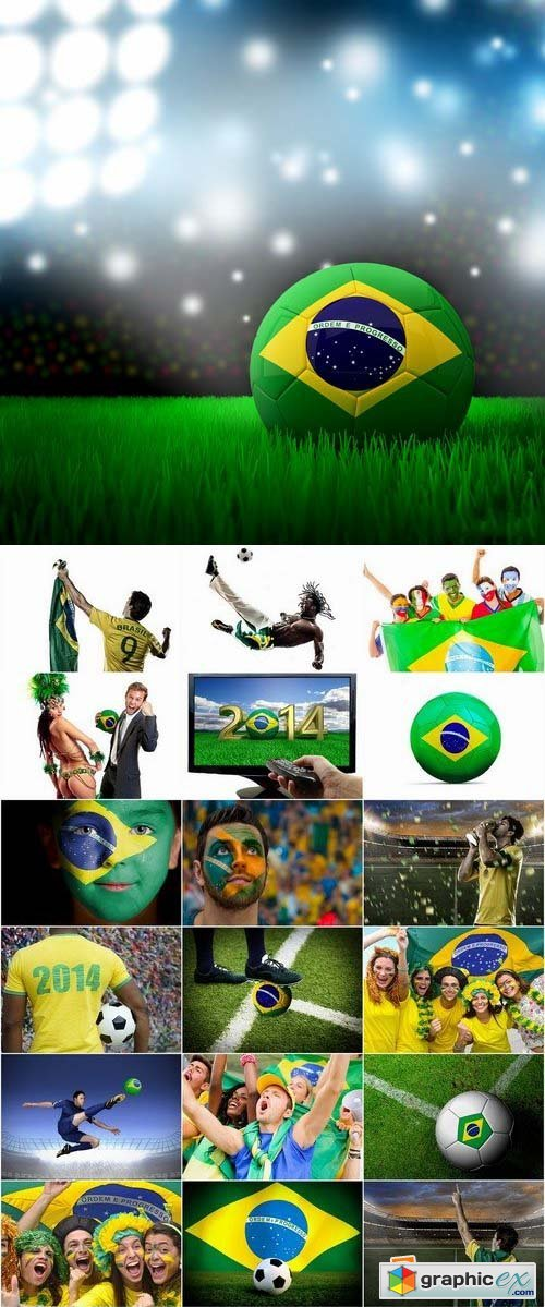 Brazil football world cup 2014 stock images 25xJPG