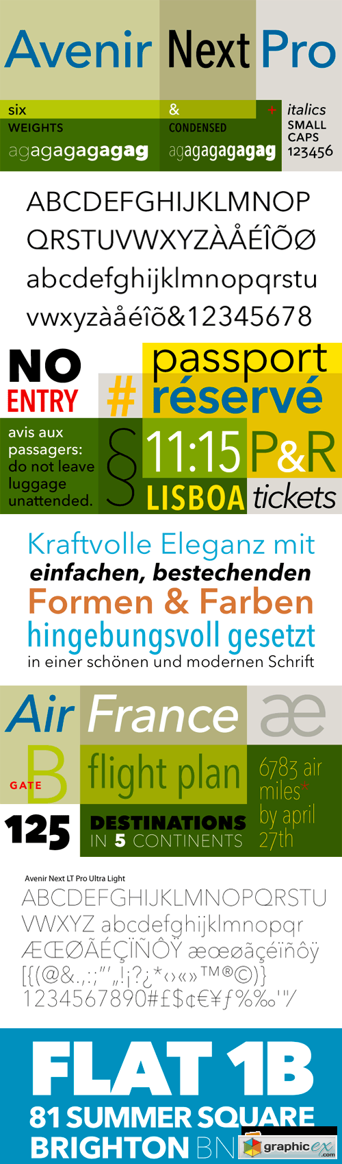 Avenir Next Pro Font Family - 17 Fonts for $999