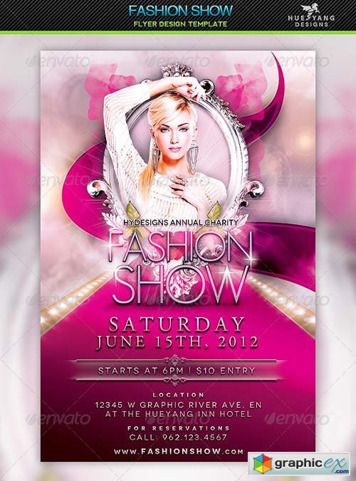 Fashion Show Flyer Template  Free Download Vector Stock Image