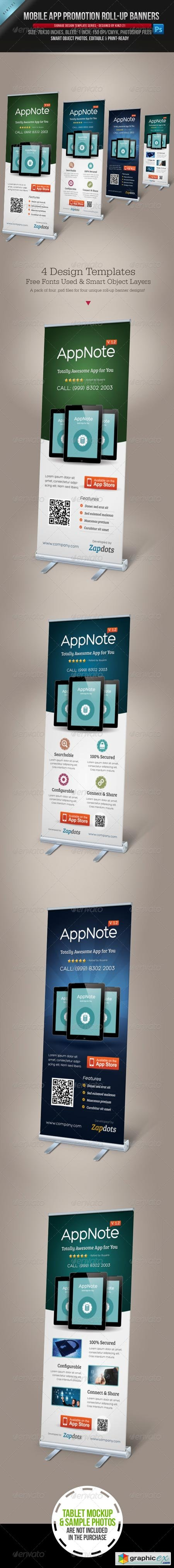 Mobile App Promotion Roll-up Banners 4042603