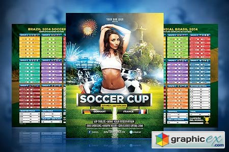 Soccer Cup 2014 Flyer with Fixture 28990