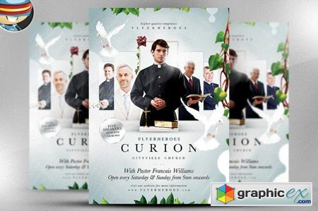 curion church flyer template 29155 free download vector stock