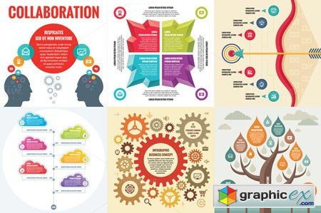 6 Infographic Business Concept 33950