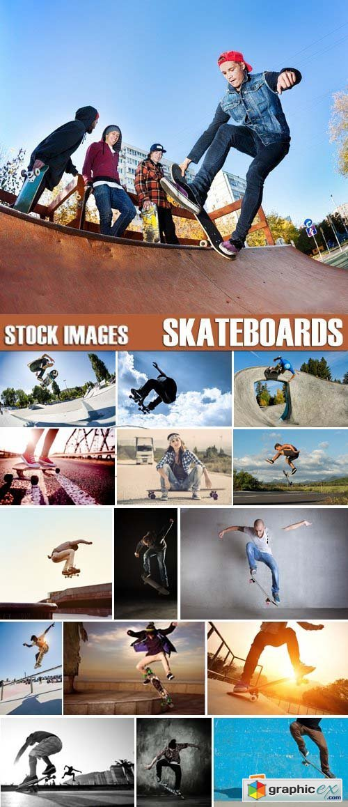 Stock Photos - Skateboards, 25xJPG