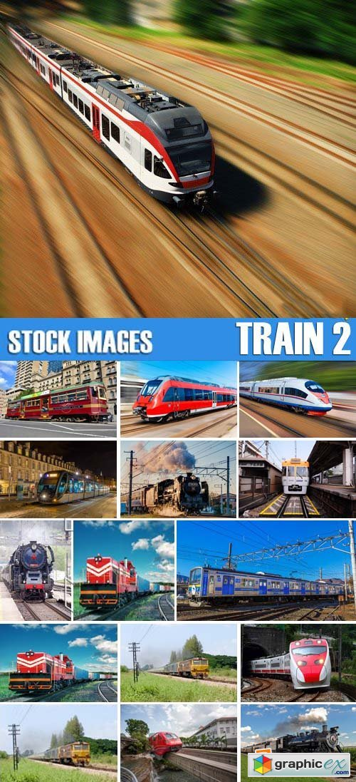 Stock Photos - Train 2, 25xJPG