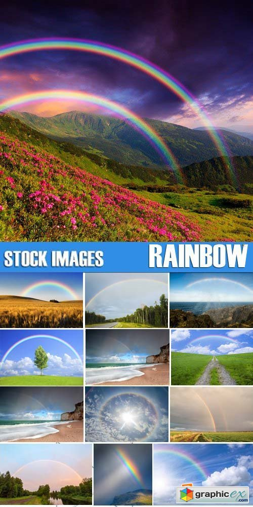 Stock Photos - Rainbow, 25xJPG