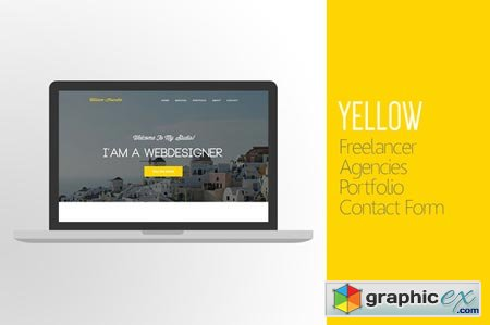 Yellow One-Page Website - PSD 51453
