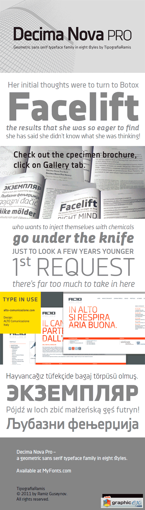Decima Nova Pro Font Family - 8 Fonts for $270
