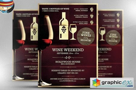 Wine Night Poster Template 51879