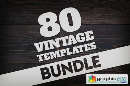 Bundle 80 Vintage Logos & Badges 52308