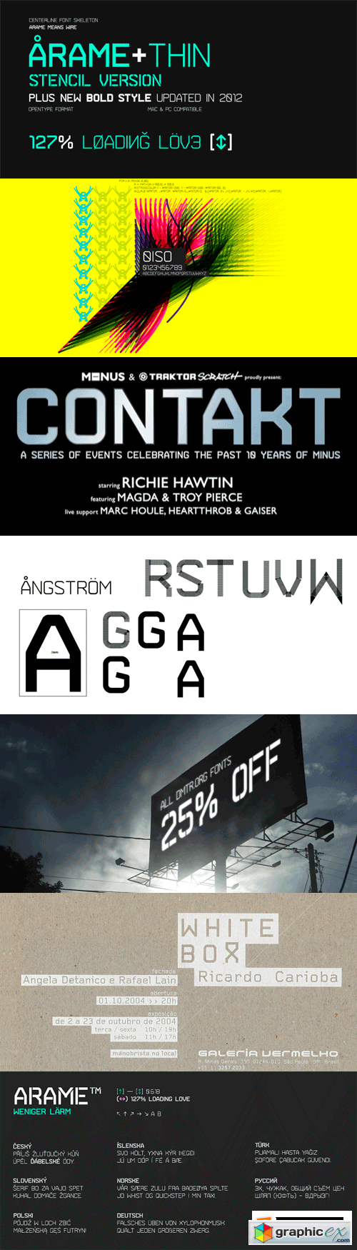 Arame Font Family - 8 Fonts for $160