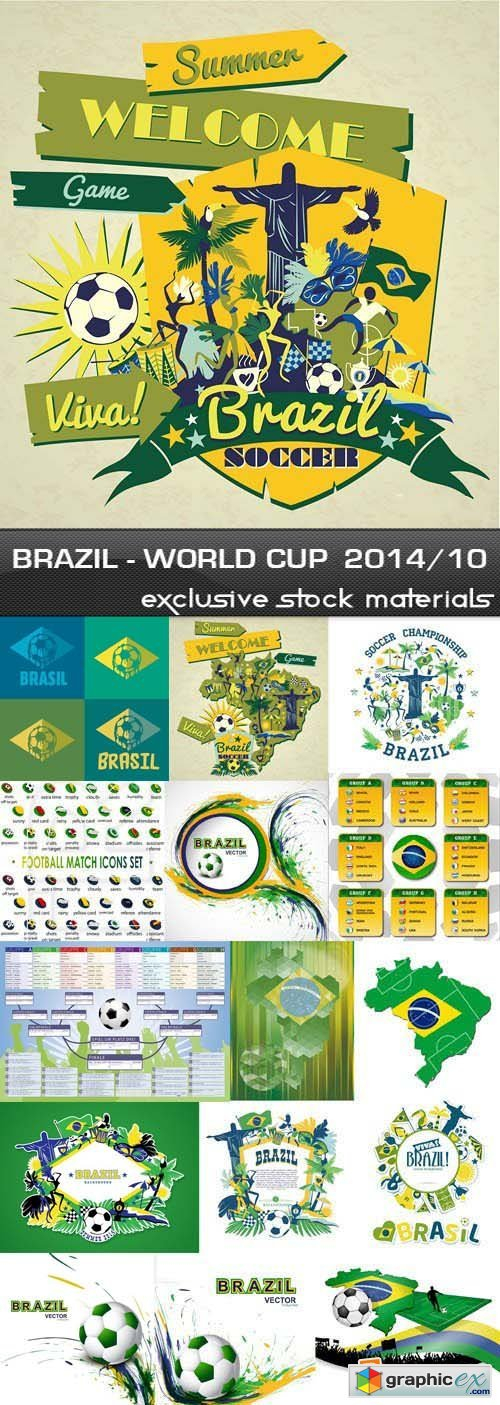 Brazil - FIFA World Cup 2014 vol.10, 25xEPS