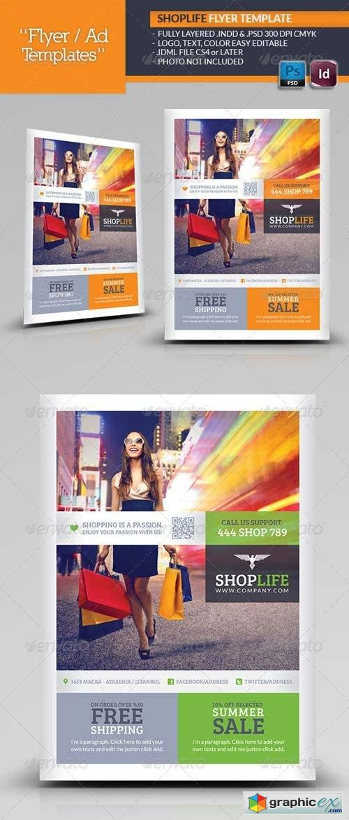 Shop Life Flyer Template