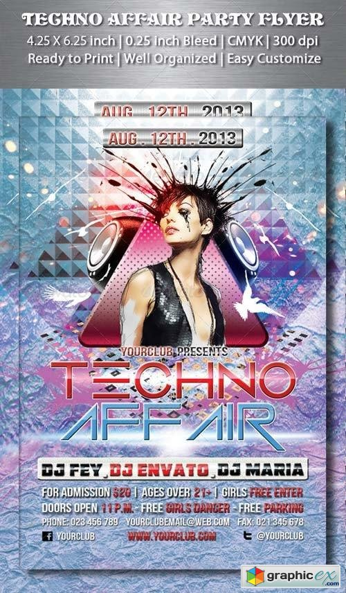 Techno Affair Party Flyer
