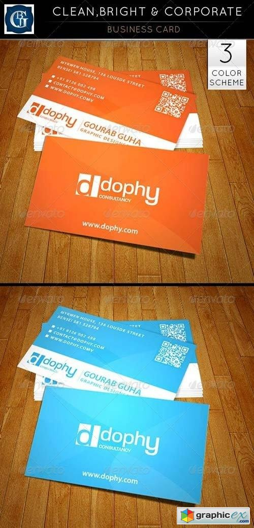 Business Card - Clean, Bright & Corporate