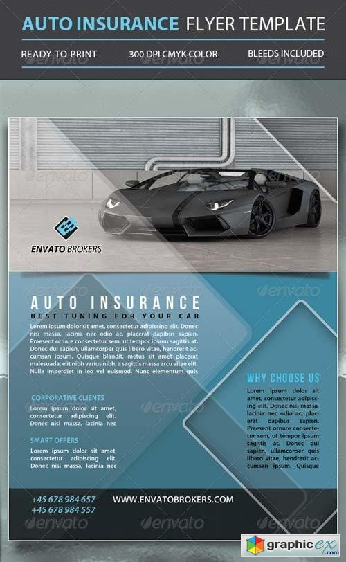 Auto Insurance Flyer Template
