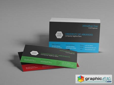 University Business Card 50660