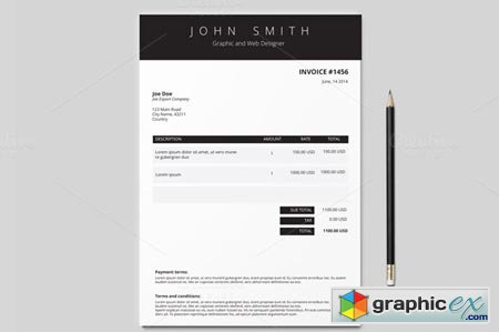Invoice Template (3 colours) 50675