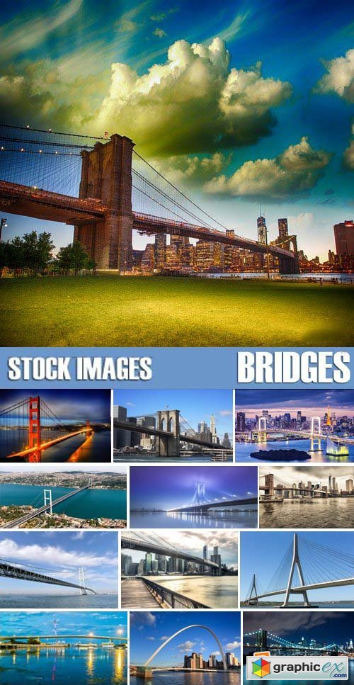 Stock Photos - Bridges, 25xJPG