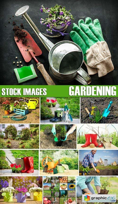 Stock Photos - Gardening, 25xJPG