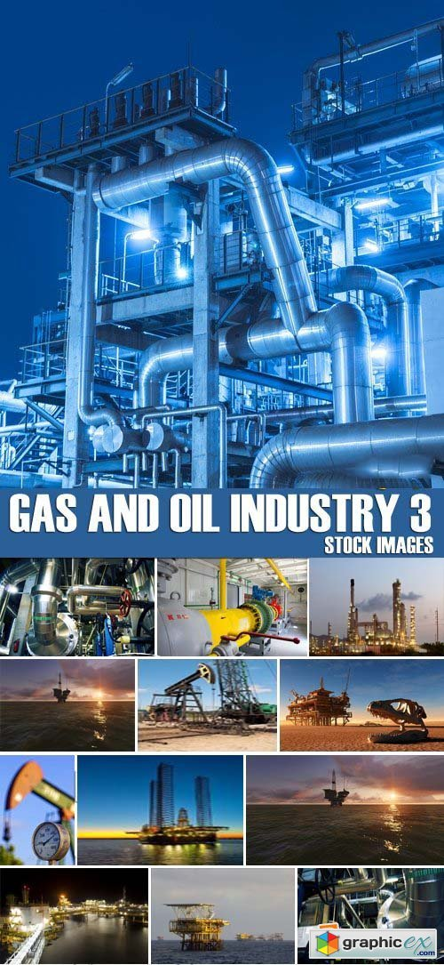 Stock Photos - Gas and oil industry 3, 25xJPG