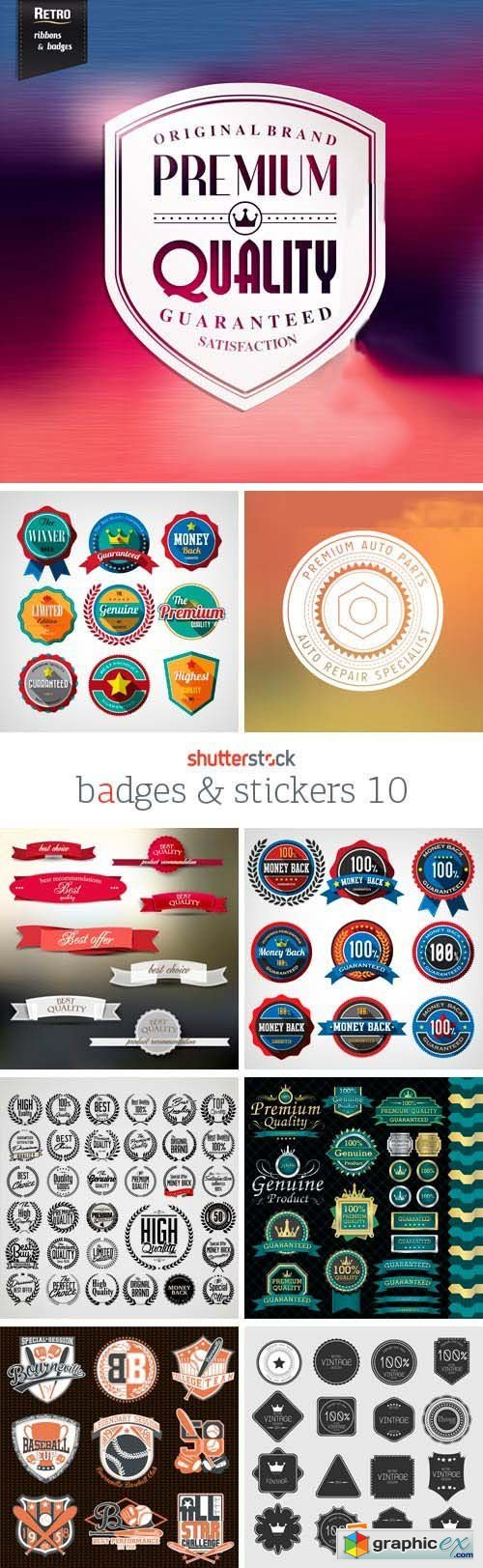 Badges & Stickers 10, 25xEPS