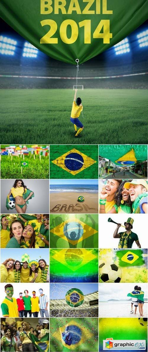 Brazil football world cup 2014 stock images 2 25xJPG