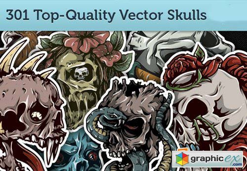 301 Top-Quality Vector Skulls