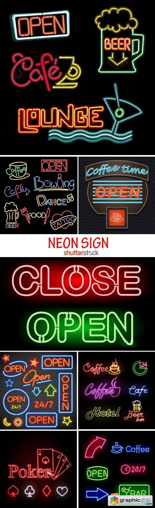 Amazing SS - Open Neon Sign, 25xEPS