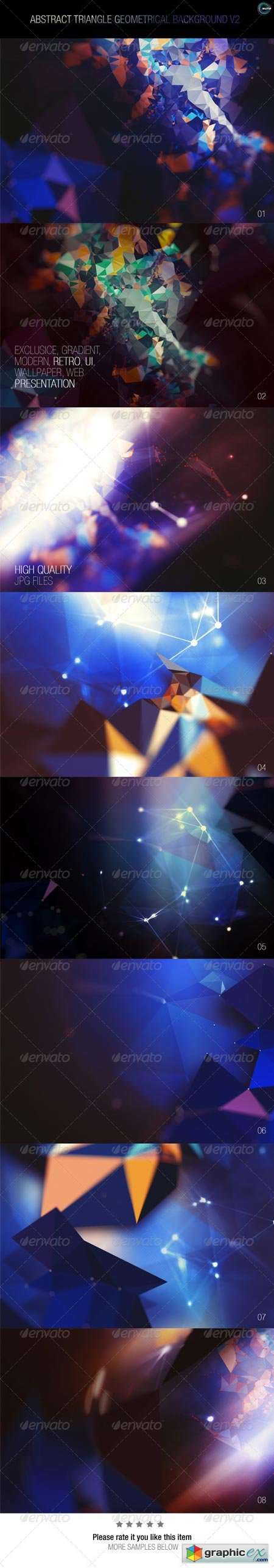 Abstract Triangle Geometrical Background V2 7837539
