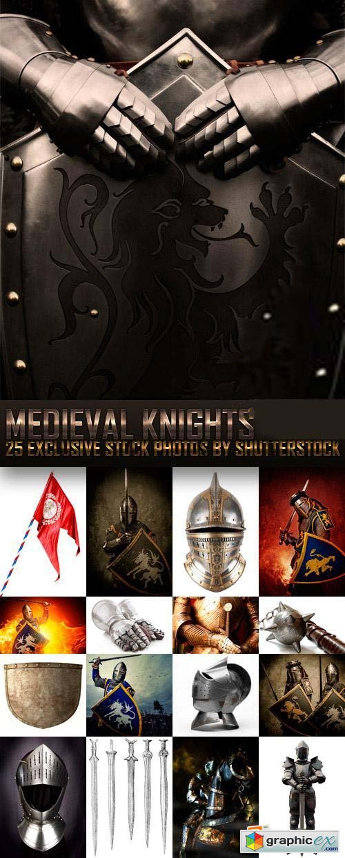 Medieval Knights 25xJPG