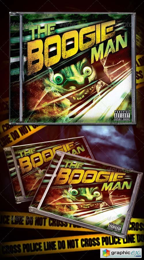The Boogie Man Mixtape Cd Cover Photoshop PSD