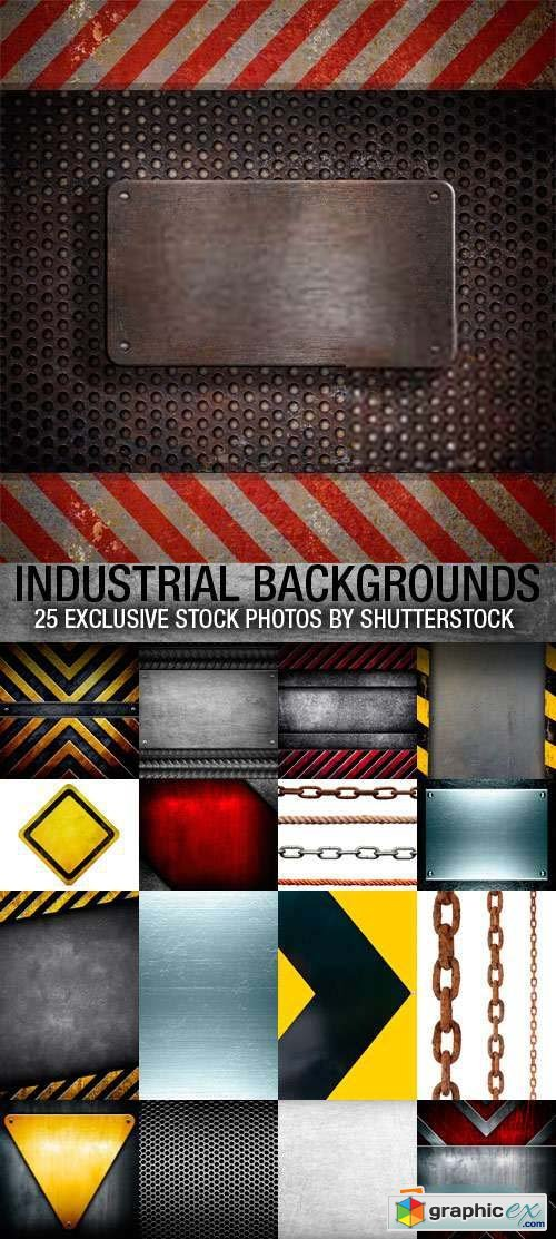 Industrial Backgrounds 25xJPG