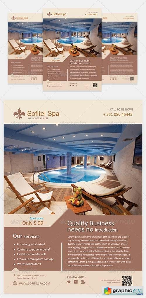 Spa Flyer Template Vol 1