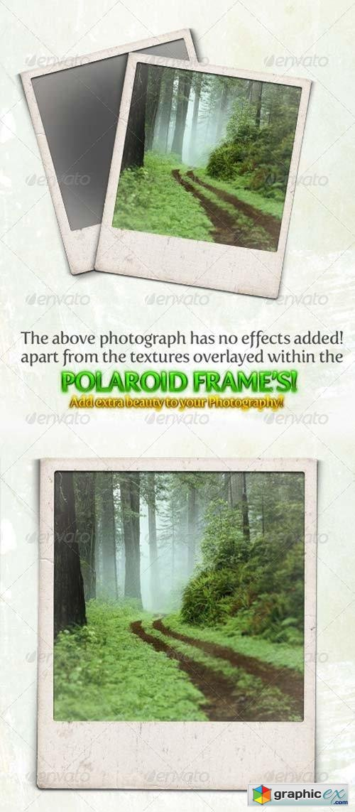 Gritty and Modern Polaroid Photo Frames