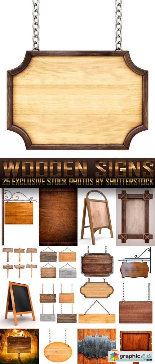 Wooden Signs 25xJPG
