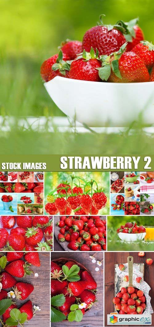 Stock Photos - Strawberry 2, 25xJPG