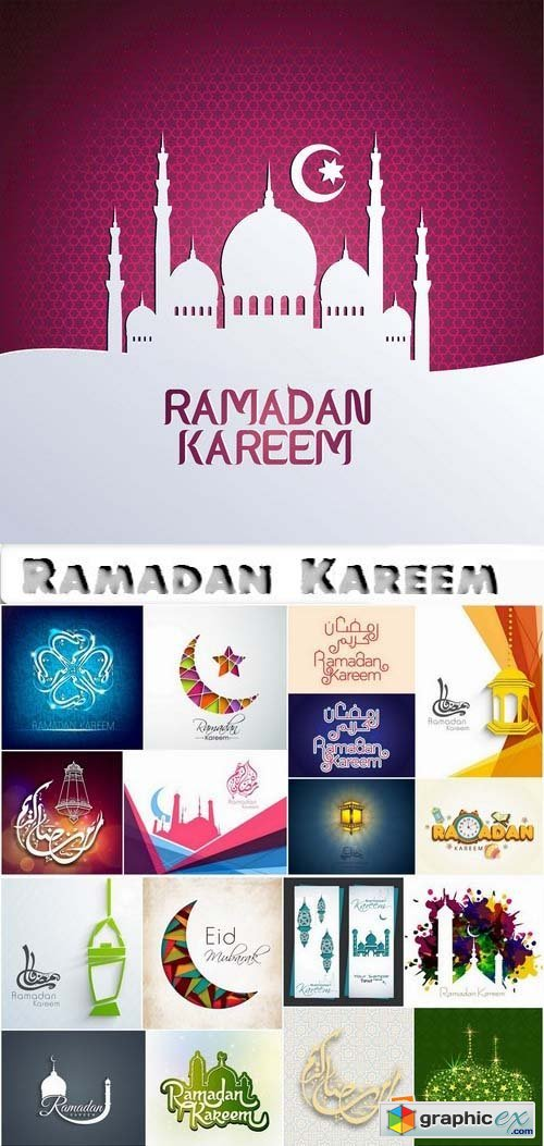 Ramadan Kareem Template Design in Vector by stock 2 25xEPS