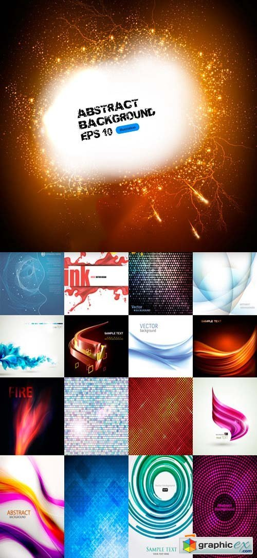 Abstract Backgrounds 2, 25xEPS