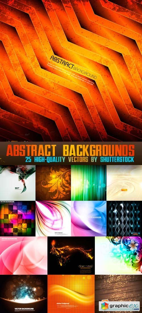Abstract Backgrounds 25xEPS