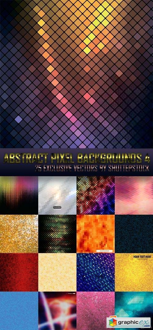 Abstract Pixel Backgrounds 4, 25xEPS