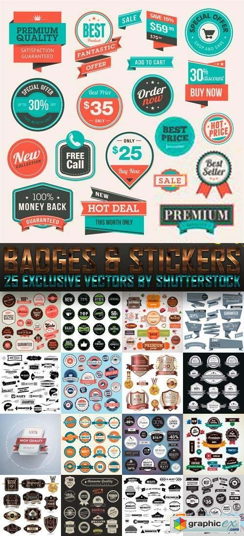 Badges & Stickers 25xEPS
