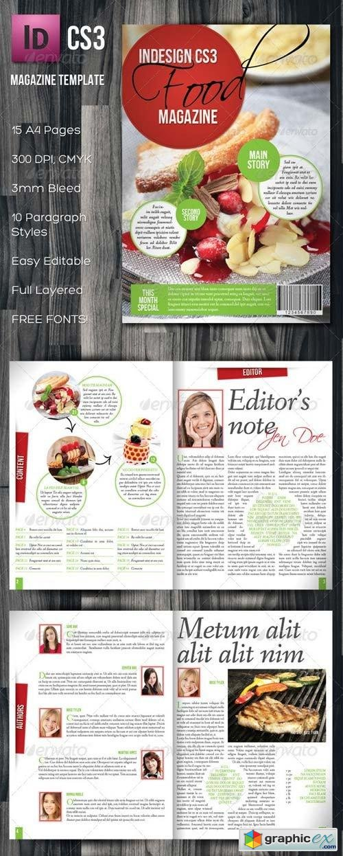 InDesign A4 Food Magazine