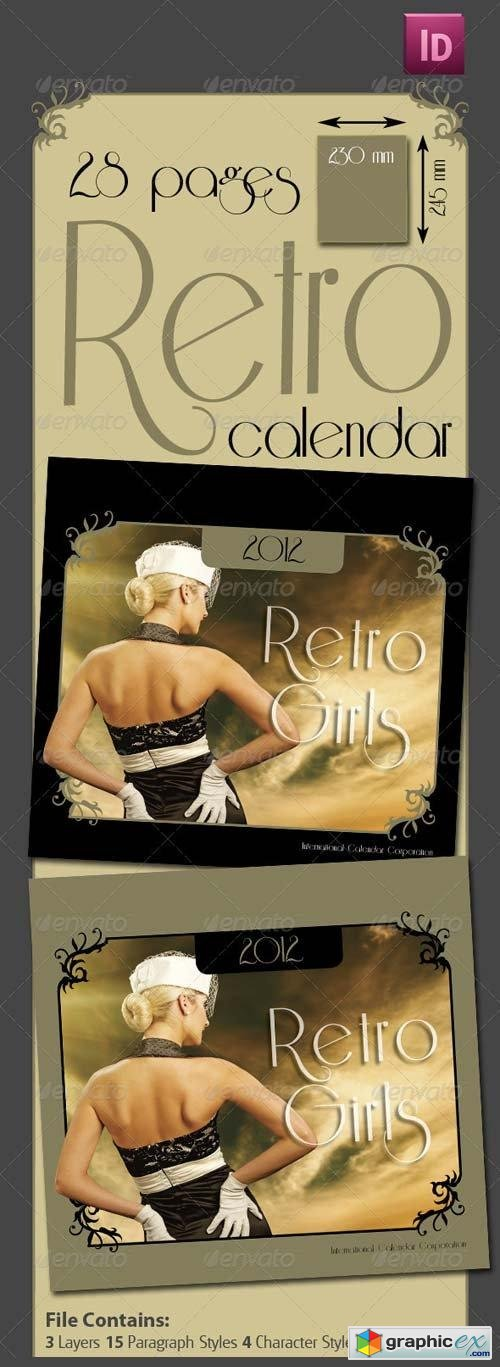 28 Pages Retro Calendar