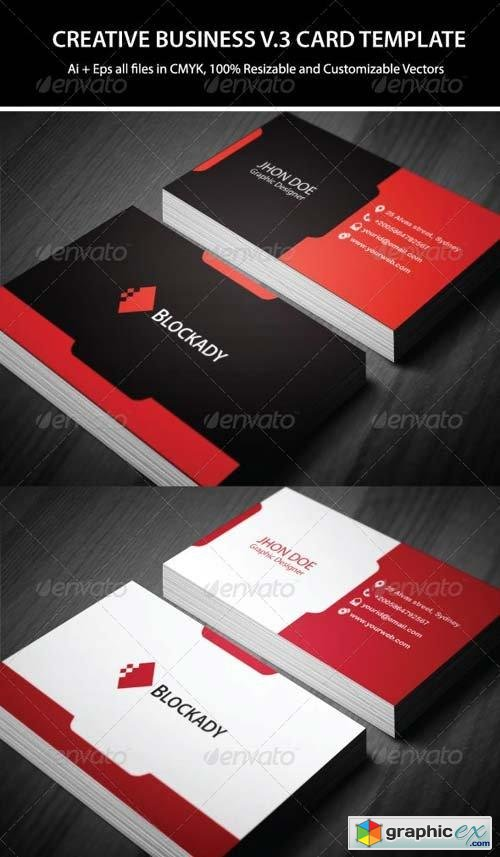 2 Colors Creative Business Card Template V.2