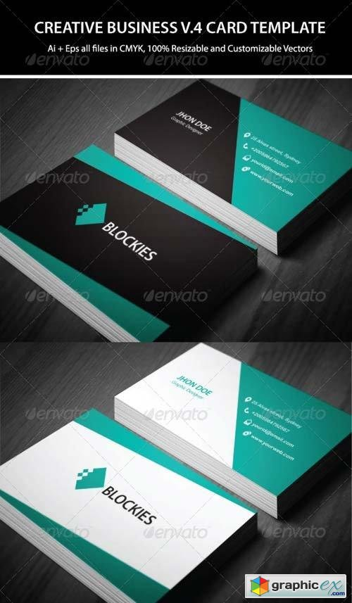 2 Colors Creative Business Card V.4