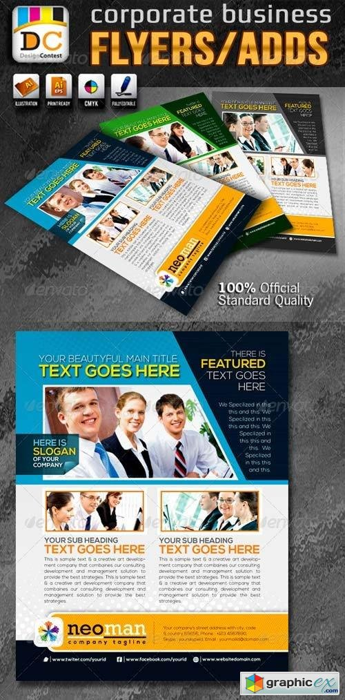 Neo Man Corporate Business Flyers/Adds
