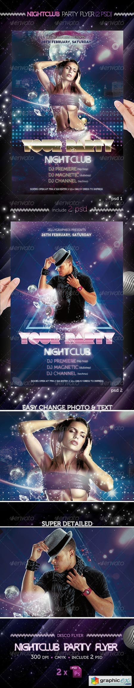 Nightclub Party Flyer Template 1665712
