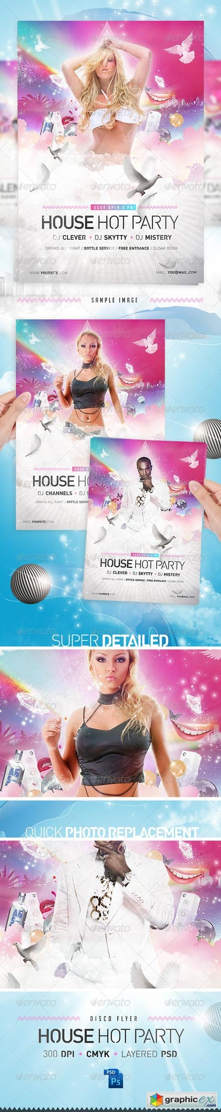 House Party Disco Flyer Template 1448512